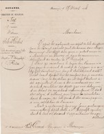 Courrier 1874 / Douanes / Sels Et Pêche / Sel Dénaturé Pour Le Bétail Secteur Maîche Et Le Russey 25 / Besançon - France