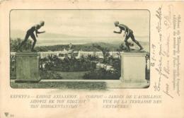 CORFOU JARDIN DE L'ACHILLION VUE DE LA TERRASSE DES CENTAURES 1919 - Greece