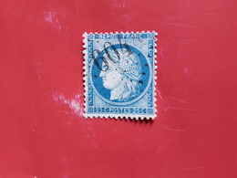 N°60A, 25 Cts Bleu , GC 6044, Laudun, Gard. - Marcophilie (Timbres Détachés)