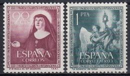 ESPAÑA 1952 Nº 1116/17 NUEVO PERFECTO - 1931-Hoy: 2ª República - ... Juan Carlos I