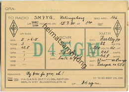 QSL - QTH - D4EGM - Sachsen - 1930 - Amateurfunk