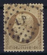 France: Yv  23 Brun Est Ne Pas Orange Obl./Gestempelt/used  LP - 1862 Napoleon III