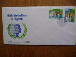 EIRE IERLAND FDC BLIAIN IDIRNÁISIÚNTA NA NÓG 01-08-1985 - FDC