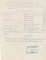 Tarif Des Charbons De Forge En 1920 / Selon Les Provenances Et Qualité / Bureau Charbons Luxeuil 70 / Rationnement - 1914-18