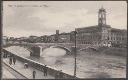 I Lungarni E Il Ponte Di Mezzo, Pisa, Toscana, C.1910s - Vallerini Cartolina - Pisa