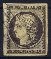 France: Yv 3b Obl./Gestempelt/used Nice Margins - 1849-1850 Ceres