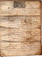 Acte Manuscrit Sur Parchemin Briouze Cachet Généralité D'Alençon 13 Sols 4 Deniers 1703 8 Pages - Manuscripts