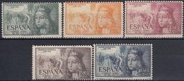 ESPAÑA 1951 Nº 1097/01 NUEVO PERFECTO CENTRAJE NORMAL DE LA SERIE - 1951-60 Usados