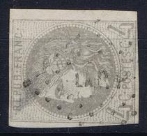 France: Yv 41 B Obl./Gestempelt/used Has A Thin Spot Cachet LARP Lettre Ambulant La Rochelle - Paris RRR - 1870 Ausgabe Bordeaux