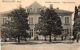 69. CPA. GRIGNY.  Villa Plaisance.  Bouillat Ainé. - Grigny