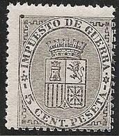 1874-ED. 141 I REPÚBLICA- ESCUDO DE ESPAÑA 5 CENT. NEGRO-NUEVO SIN FIJASELLOS- MNH- VER FOTOS - 1873-74 Regentschaft