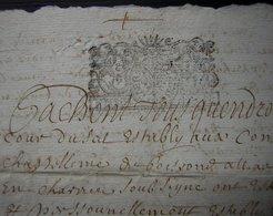 1697, Joli Cachet Sur Contrat D'Acquet (André Gauthier Et Sa Femme), à Déchiffrer - Manuscripts