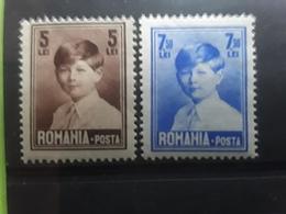 ROMANIA / Roumanie , 1928 - 1930  Roi Michel 1er  , 2 Timbres 5 Lei & 7,50 Lei  Neufs ** MNH  TB - 1918-1948 Ferdinand, Charles II & Michael