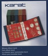 Album Numismatique Lindner Karat Bordeaux Réf. 1106E-W Avec 10 Feuilles Tailles Assorties Neuf à - 50% - Matériel