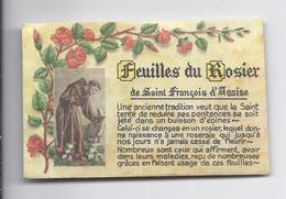 NU VP à 5€ FEUILLES DU ROSIER DE SAINT FRANCOIS D'ASSISE - Religion & Esotérisme