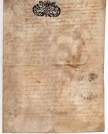 Acte Notarial Notaire à Beaugency Manuscrit Sur Parchemin Cachet Généralité Orléans 1756 Blanchard Vigneron 2 Pages 1/2 - Manuscripts