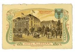 CPA ALLEMAGNE WIESBADEN HOTEL ALLEESAAL - Wiesbaden