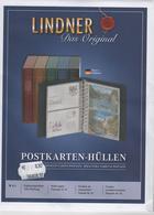 Paquet De 10 Feuilles De Classement Pour Cartes Postales Lindner Réf. 811 à - 50% - Matériel