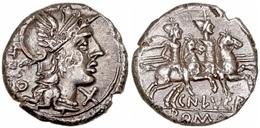 REPÚBLICA ROMANA. DENARIO FAMILIA LUCRETIA. PLATA - Romaines