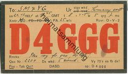 QSL - QTH - D4GGG - 1931 - Amateurfunk
