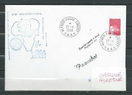 Frégate GERMINAL - DLD - Escale à CROZET - PAQUEBOT 27/11/98 - Marcophilie (Lettres)