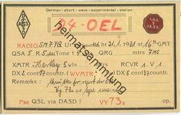 QSL - QTH - D4OEL - 1931 - Amateurfunk