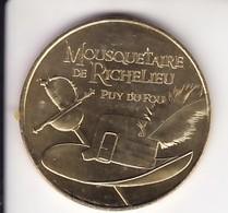 Jeton Médaille Monnaie De Paris MDp Mousquetaire De Richelieu Puy Du Fou 2018 - 2018
