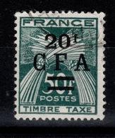 Reunion - CFA YV Taxe 43 Obliteré Gerbe - Réunion (1852-1975)
