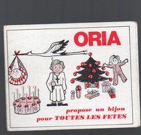 Calendrier Dépliant, ORIA   (bijoux) 1972  (PPP15970) - Calendars