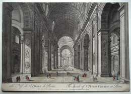 Piranèse - La Nef De St. Pierre De Rome - Estampes & Gravures