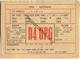 QSL - QTH - D4OPG - 1931 - Amateurfunk