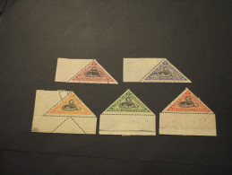 LIBERIA - REGISTERED - 1921 SERPENTE 5 VALORI - TIMBRATI/USED - Liberia