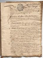 Acte Notarial Notaire à Monthou Sur Cher Manuscrit Succession Dubois Curé Cachet Généralité Orléans Deux Sols 16 P.1780 - Manuscripts