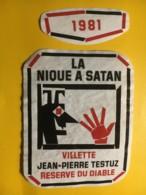 9017 - La Nique à Satan Réserve Du Diable Théatre Du Jorat 1982 Villette Jean-Pierre Testuz Suiss - Etiketten