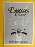 9026 - Réserve De La Société De Tir Aux Armes De Guerre Epesses Suisse - Etiketten