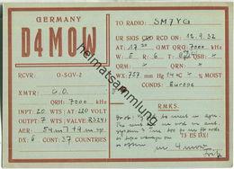 QSL - QTH - D4MOW - 1932 - Amateurfunk