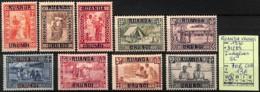 [825179]Ruanda-Urundi 1930 - N° 81/89, Indigènes, Série Complète - 1924-44: Mint/hinged