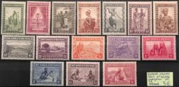 [825183]Ruanda-Urundi 1931 - N° 92/106, Indigènes, Série Complète - 1924-44: Mint/hinged