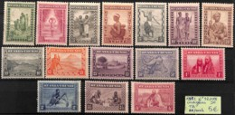 [825184]Ruanda-Urundi 1931 - N° 92/106, Indigènes, Série Complète - 1924-44: Mint/hinged