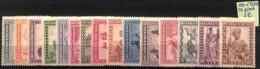 [825192]Ruanda-Urundi 1931 - N° 92/106, Indigènes - 1924-44: Mint/hinged