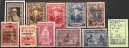[825194]Ruanda-Urundi 1934 - Tb Lot */mh, Série Complète - 1924-44: Mint/hinged