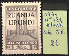 [825198]Ruanda-Urundi 1934 - N° 121, - 1924-44: Mint/hinged