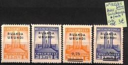 [825199]Ruanda-Urundi 1934 - N° 122/25, Avec Surcharges - 1924-44: Mint/hinged
