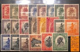 [825203]Ruanda-Urundi 1942 - N° 126/47, Palmiers, Soldats, Animaux - 1924-44: Mint/hinged