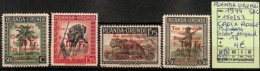 [825204]Ruanda-Urundi 1944 - N° 150/53, Palmiers, Soldats, Léopard, Surcharge Croix-Rouge, SNC - 1924-44: Mint/hinged