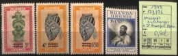 [825209]Ruanda-Urundi 1949 - N° 173/76, Masque Surchargés + Saint François Xavier - Ruanda-Urundi
