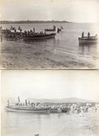 3 Photographies Originales (+ 1 Double)  Marine De Guerre France Début XXe Siècle ?? - Bateaux