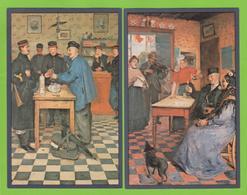 """2 X NEEFS Jacques """" Bezoek In De Kazerne """" &  """" GOUDEN Huwelijksfeest   """" 't Wit Stoopke Genever - Antwerpen"""