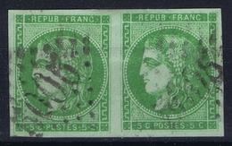 Algerie Yv 42B  Used Cancel GC 5005 Paire - Napoleon III