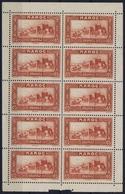Maroc Yv 140 , Feuille  8 X Postfrisch/neuf Sans Charniere /MNH/**  2x MH/* Flz/ Charniere - Morocco (1891-1956)